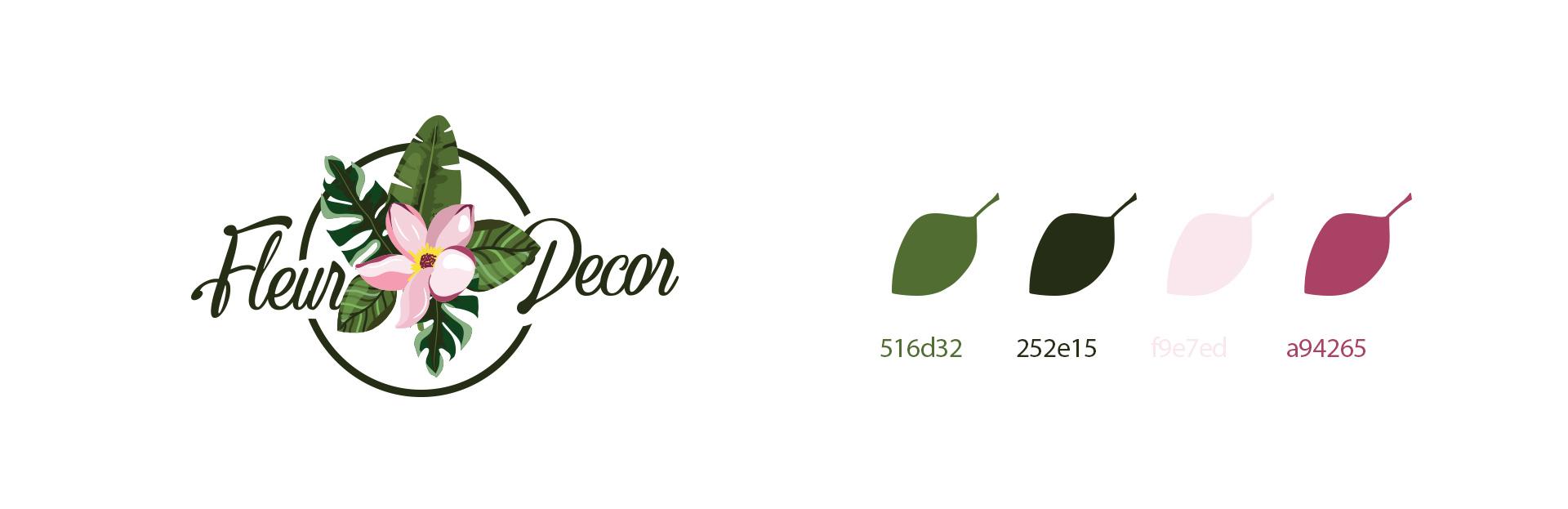Разработка бренд стиля для студии декора - фирменный стиль